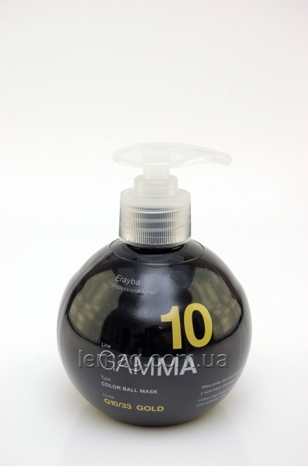 Erayba Professional GAMMA G10/33 Color Ball Маска для поддержания цвета волос - ЗОЛОТИСТЫЙ, 250 мл