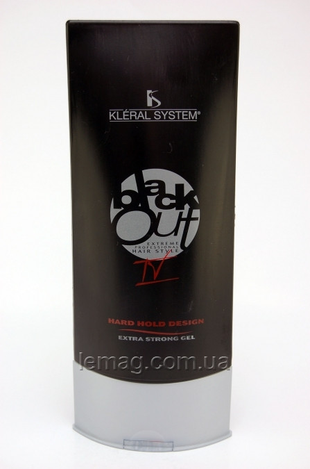 "Kleral System Blackout 04 Hard Hold Disign Гель сверхсильной фиксации ""Панк"", 200 мл"