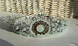 Корона Біла Місячна кришталева Діадема Місячна Тіара Біла місячна, фото 3