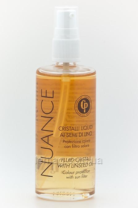 """NUANCE CP Жидкие кристаллы """"Защита цвета"""" с экстрактом семени льна и УФ-фильтром, 100 мл"""