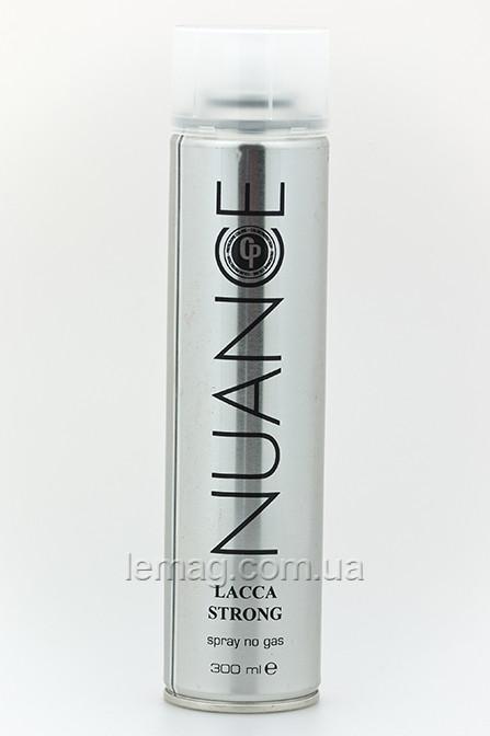 NUANCE CP Hair spray no gass Strong Лак сильной фиксации без газа с защитной формулой цвета, 300 мл