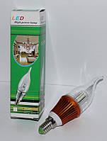 Светодиодная лампа свеча LED 220В (E14), Одесса