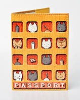 """Обложка на паспорт эко кожа """"Котята"""""""