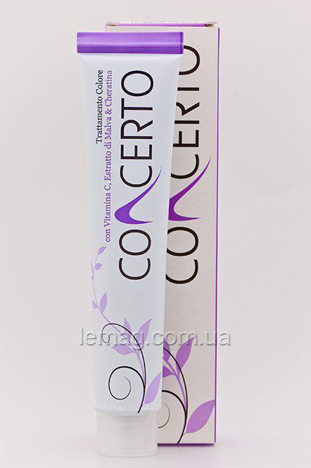 Concerto Цветное лечение волос с кератином и витамином С, 5.55 -Светло-каштановoe яркое красное дерево, 100 мл
