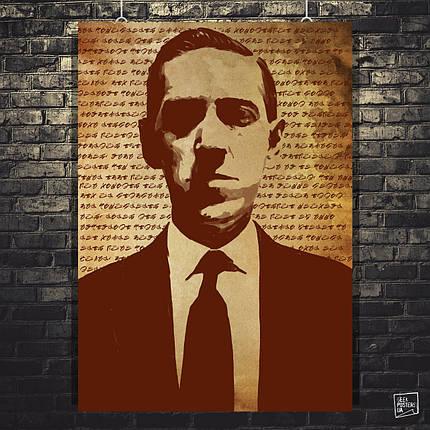 Постер Лавкрафт, Lovecraft. Размер 60x42см (A2). Глянцевая бумага, фото 2