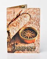 "Обложка на паспорт ""Компас Путешествие"" 099"