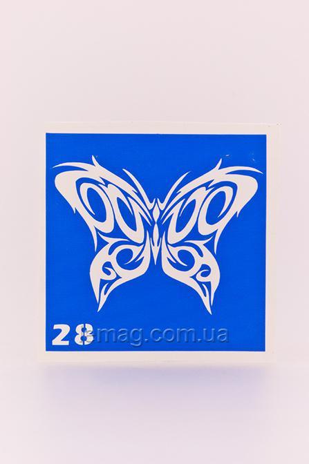 Boni Kasel Трафарет для био тату 6x6 см - 028, 1 шт