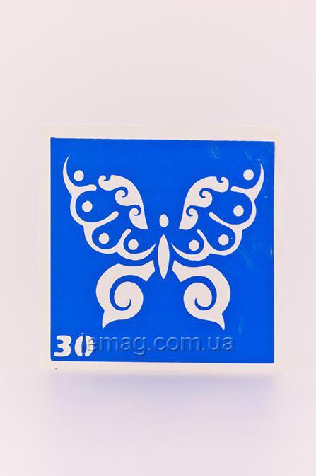 Boni Kasel Трафарет для био тату 6x6 см - 030, 1 шт