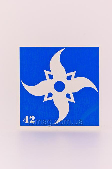 Boni Kasel Трафарет для био тату 6x6 см - 042, 1 шт