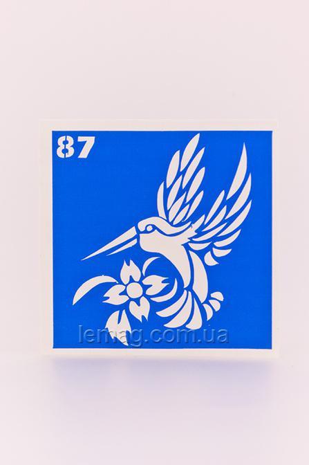 Boni Kasel Трафарет для био тату 6x6 см - 087, 1 шт
