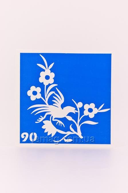 Boni Kasel Трафарет для био тату 6x6 см - 090, 1 шт