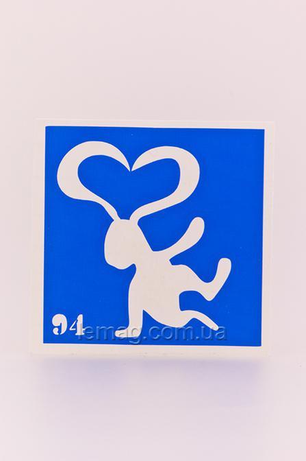 Boni Kasel Трафарет для био тату 6x6 см - 094, 1 шт