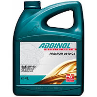 Addinol Premium 0540 C3 4 л. Автомасло для легковых авто (SAE 5W-40)