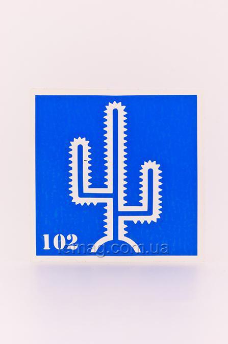 Boni Kasel Трафарет для био тату 6x6 см - 102, 1 шт