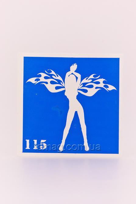 Boni Kasel Трафарет для био тату 6x6 см - 115, 1 шт