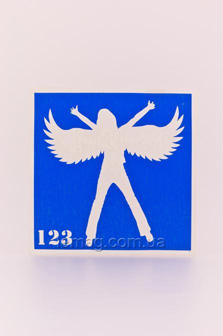 Boni Kasel Трафарет для био тату 6x6 см - 123, 1 шт