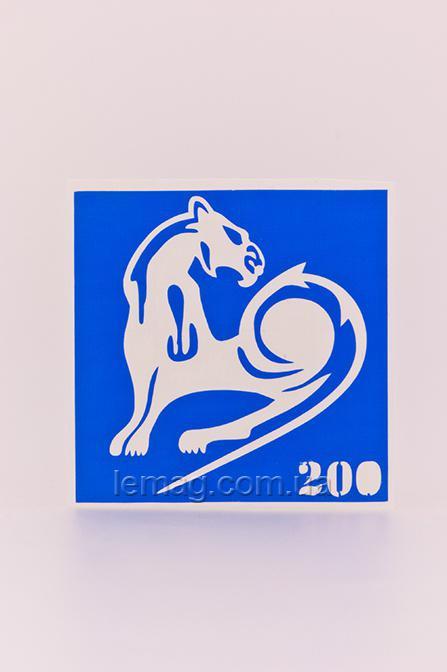 Boni Kasel Трафарет для био тату 6x6 см - 200, 1 шт