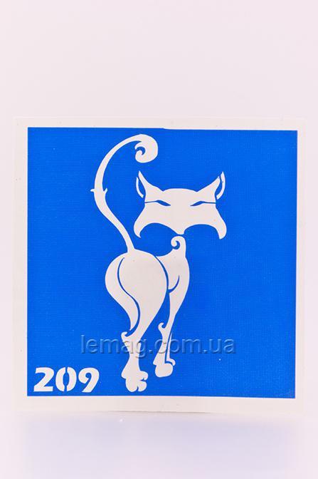 Boni Kasel Трафарет для био тату 6x6 см - 209, 1 шт