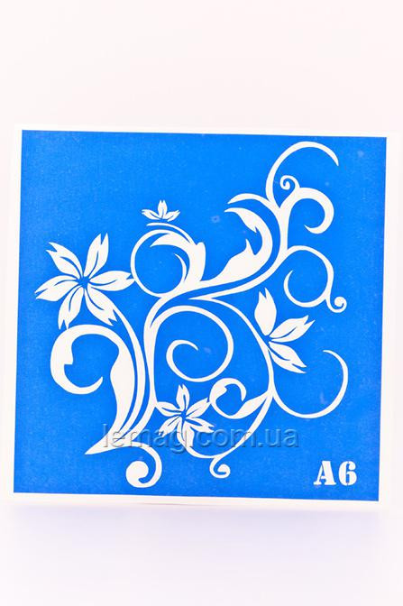 Boni Kasel Трафарет для био тату 15х15 см - А06, 1 шт