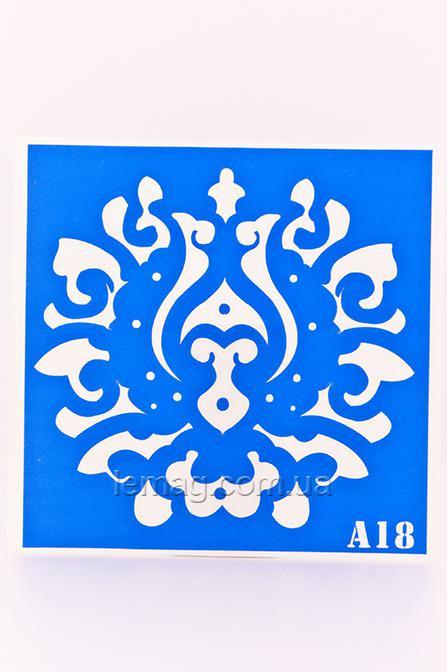 Boni Kasel Трафарет для био тату 15х15 см - А18, 1 шт