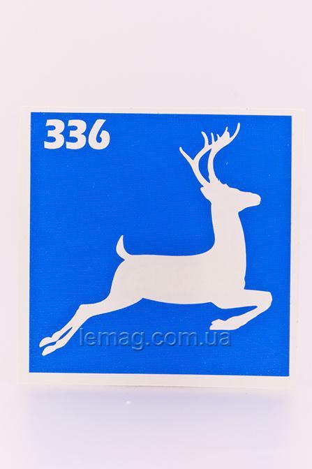 Boni Kasel Трафарет для био тату 6x6 см - 336, 1 шт