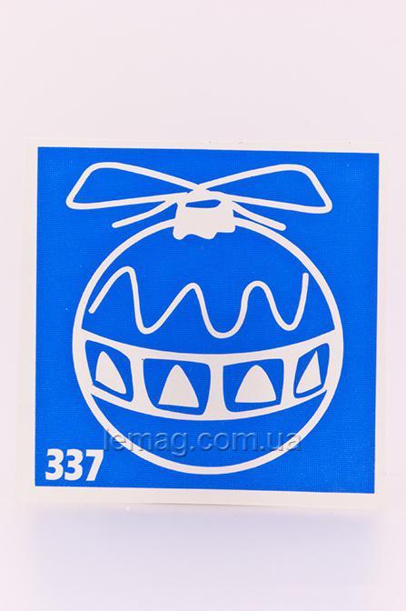 Boni Kasel Трафарет для био тату 6x6 см - 337, 1 шт
