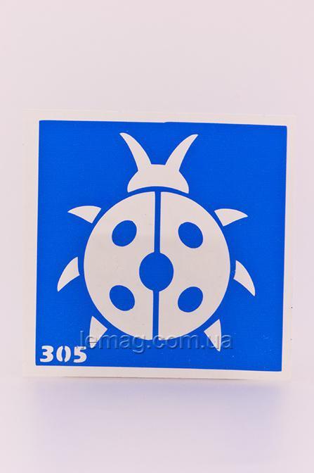 Boni Kasel Трафарет для био тату 6x6 см - 305, 1 шт