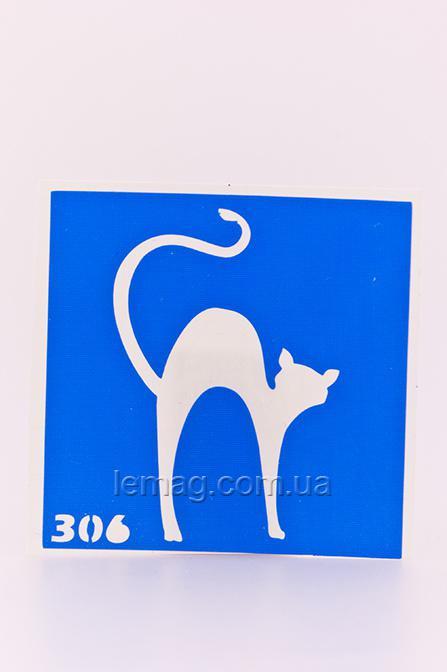 Boni Kasel Трафарет для био тату 6x6 см - 306, 1 шт