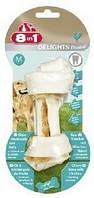 Кость 8 in 1 Dental Delights Bone S для собак жевательная, с куриным мясом, 11 см
