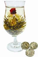 Цветочный чай, связанный шарик с цветком внутри, слабой ферментации, распускается при заваривании, 18г, 2 шт.