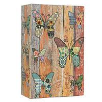 """Книга-сейф """"Бабочки"""" MK 0791 металл/картон, механический замок Royaltoys"""