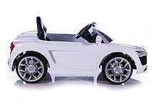Детский Электромобиль Audi 2316 черная на аммортизаторах и радиоуправлении, открываются дверцы, фото 2