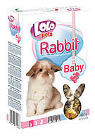 """Lolopets"" BABY корм для молодых кроликов до 3 месяцев 400гр., 10шт/уп."
