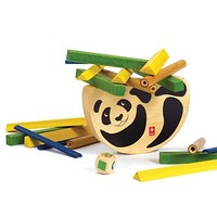 """Деревянная игрушка головоломка балансир из бамбука HAPE """"Pandabo"""""""