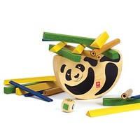 "Деревянная игрушка головоломка балансир из бамбука HAPE ""Pandabo"", фото 2"