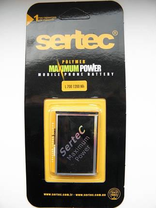 Аккумулятор samsung l700, f400, j800, b3410, s3650 sertec, фото 2