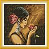 Вышивка крестом Девушка с розой