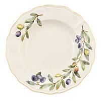 Набор тарелок для супа Villa Grazia Premium Оливки и маслины 23 см, 6 шт 525-23OL-set