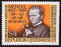 Австрія 1984 р. Грегор Йоганн Мендель