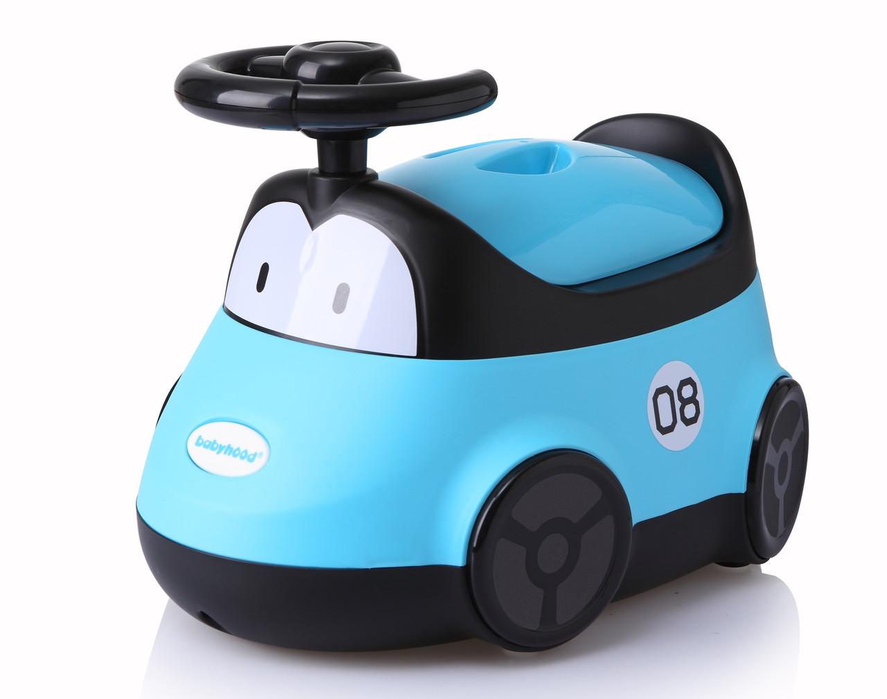 Детский горшок Автомобиль Babyhood голубой (BH-116B)