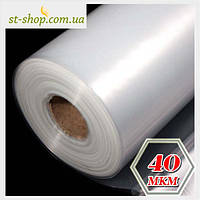 Пленка полиэтиленовая прозрачная 40 мкм 1.5 м рукав 3 м в развороте 100 м в рулоне