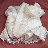 Платок Белый жемчуг ш-00042, белый, оренбургский пуховый платок, фото 8
