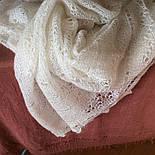 Платок Белый жемчуг ш-00042, белый, оренбургский пуховый платок, фото 10