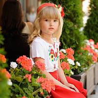 Вышиванка для девочки с коротким рукавом | Вишиванка для дівчинки з коротким рукавом, фото 1