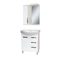 Комплект мебели для ванной комнаты АЛЬВЕУС 70 с умывальником Лотос 70