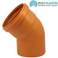 Отвод ПВХ 110х45° Evci Plastik