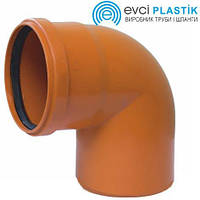 Отвод ПВХ 110х90° Evci Plastik