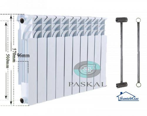 Биметаллический секционный радиатор Paskal 500/96, фото 2