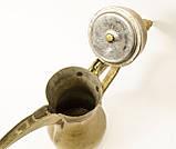 Антикварный арабский кофейник, латунный чайник, даллах, латунь 29 см, фото 7
