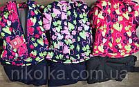 Комбинезон для девочек на флисе оптом (куртка +комбинезон), Taurus, 98-128 рр.,DL-612, фото 3